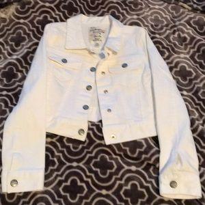 Little girls white jacket